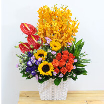 Stunning mixed colour arrangement